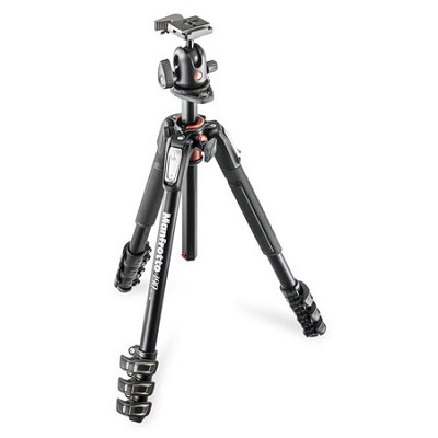 MK190XPRO4-BH 4 Section Aluminum Tripod Column q90 Ball Head with Quick Release