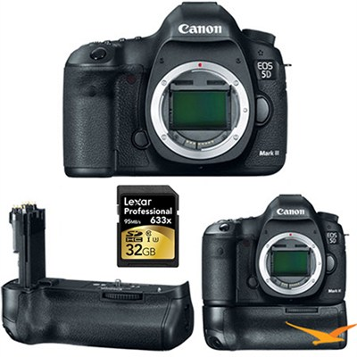 EOS 5D Mark III 22.3 MP Full Frame CMOS Digital SLR Camera (Body) kit with Grip