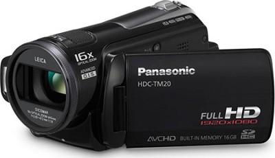 HDC-TM20K - Hi-Definition 16GB flash memory/SD card Camcorder (Black) - OPEN BOX
