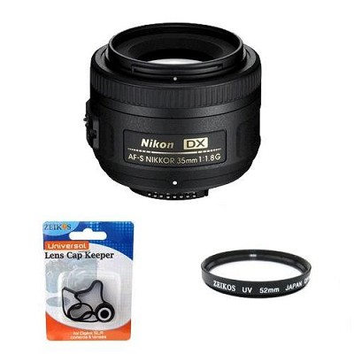 AF-S DX 35mm F/1.8G Lens w/ UV Filter