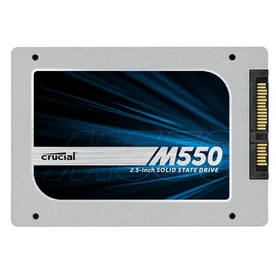 128GB Crucial M550 SATA 6Gbps 2.5` 7mm (with 9.5mm adapter) SSD