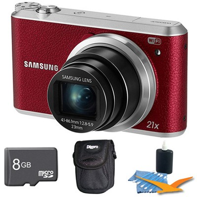 WB350 16.3MP 21x Opt Zoom Smart Camera Red 8GB Kit