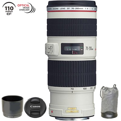 EF 70-200mm f/4L IS USM w/ Case & Hood - 1258B002 (Certified Refurbished)