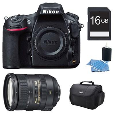 D810 36.3MP 1080p HD DSLR Camera and AF-S DX NIKKOR 18-200mm Lens Kit