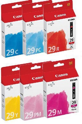 PGI-29 LUCIA Series Color Ink Tanks - Six Color Pack for PIXMA PRO-1 Printer