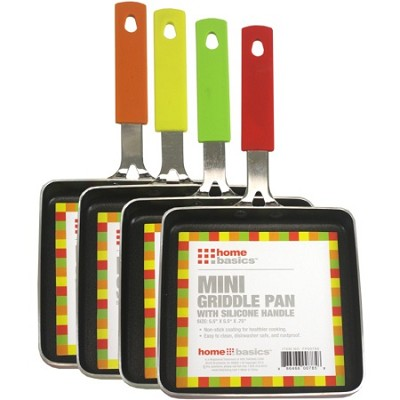 Mini Griddle Pan 5.5` - Color May Vary (Red, Yellow, Green, Orange)