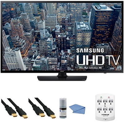 UN65JU6400 - 65-Inch 4K Ultra HD Smart LED HDTV + Hookup Kit