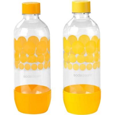 1L Carbonating Bottles Orange/Yellow (Twinpack)