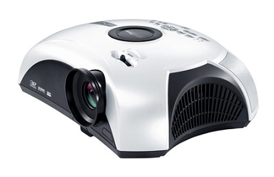 Movie Time DV11 - Home Theater Projector with Built-In Slot Load DVD Player