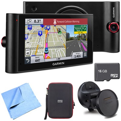 nuviCam LMTHD 6` GPS w/ Dashcam, Maps, HD Traffic Magnetic Mount Deluxe Bundle