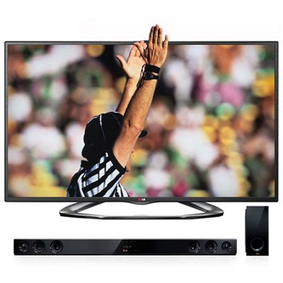 55` Class Cinema 3D 1080P 120HZ LED TV with Dual Core - Smart TV (55LA6200)