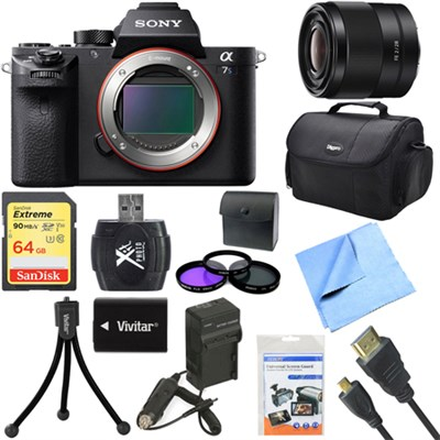 a7S II Full-frame Mirrorless Interchangeable Lens Camera Body 28mm Lens Bundle
