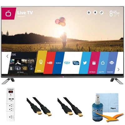 60-Inch 1080p 240Hz 3D Direct LED Smart HDTV Plus Hook-Up Bundle (60LB7100)