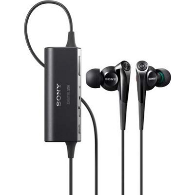 Digital Noise Canceling Black Earbuds