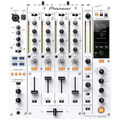 Multi Channel DJ Mixer - White- DJM-850-W