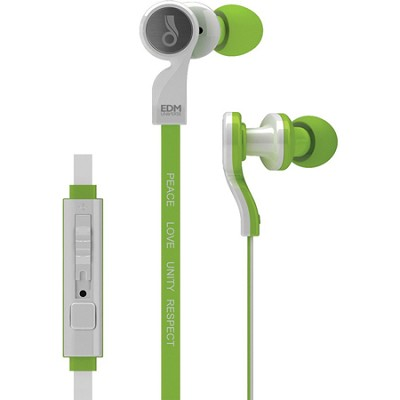 EDM Universe D1P In-Ear Headphones with Headset Functionality (Unity/Green)