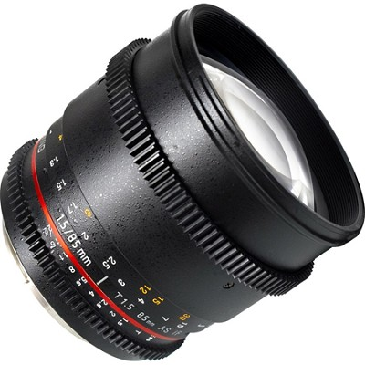 85mm T1.5 `Cine` Portrait Lens for Nikon VDSLR