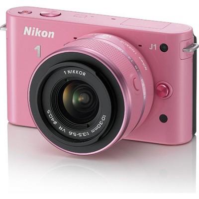 1 J1 SLR Pink Digital Camera w/ 10-30mm VR Lens (Refurbished)