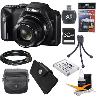 PowerShot SX170 IS 16MP Digital Camera Ultimate Kit