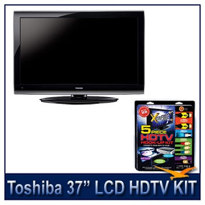 37E200U 37` 1080p LCD HDTV + High-performance HDTV Hook-up & Maintenance Kit