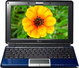 Eee PC 1000HE N280 1.66GHz 10` XP Netbook Blue