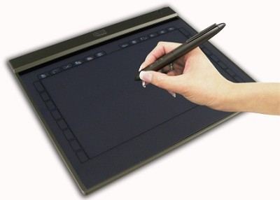 10`x6` widescreen ultra slim USB graphic Tablet w/ 28  programmable hot keys