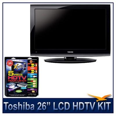 26C100U 26` 720p LCD HDTV + High-performance HDTV Hook-up & Maintenance Kit
