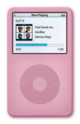 Protective silicone skin for iPod 60GB Video (Pink) w/ Armband