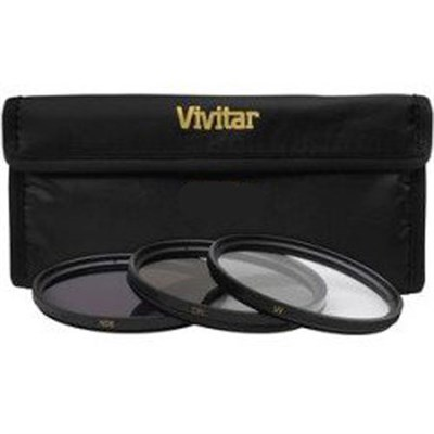 55mm UV Polarizer and FLD Deluxe Filter kit (set of 3 + carrying case) FK3-55
