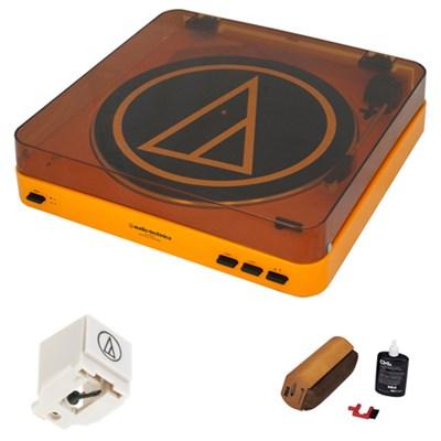 AT-LP60-BT Bluetooth Stereo Turntable Premium Bundle Stylus Needle +Cleaning Kit