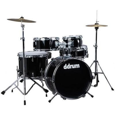 D1MB D1 JR Complete 5-piece Drum Set, Black-OPEN BOX