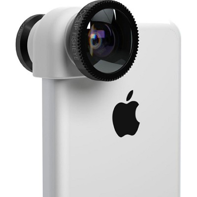 3-in-1 Lens System for iPhone 5C - White/Black