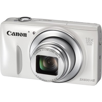 PowerShot SX600 HS 16.1MP 18x Zoom 3-inch LCD - White