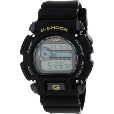G-Shock Shock/Water Resistant Black Digital Watch & Resin Band