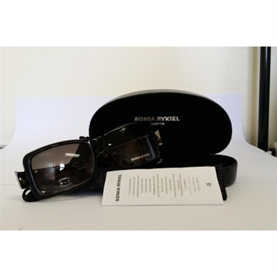 Women's Sunglasses Square Black Frame Light Grey Lens
