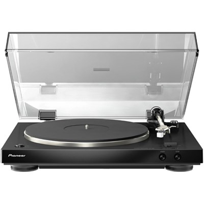 PL-30-K Audiophile Stereo Turntable w/ Dual-Layered Chassis & Built-in Phono EQ