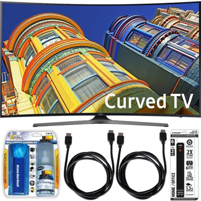 UN55KU6500 - Curved 55-Inch 4K Ultra HD LED Smart TV Essential Accessory Bundle
