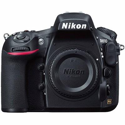 D810 36.3MP DSLR Camera - Body Only