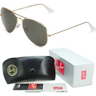 Aviator Classic Metal Sunglasses Gold 58mm