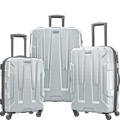 Centric 3pc Hardside (20/24/28) Luggage Set, Silver