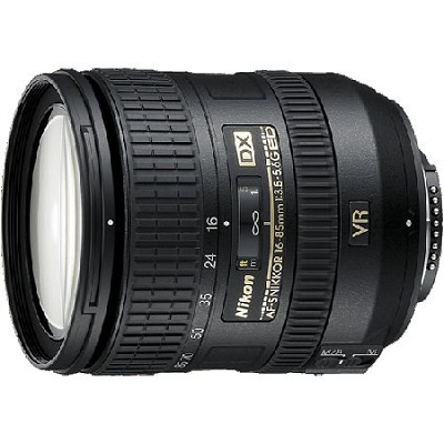 AF-S DX NIKKOR 16-85mm f/3.5-5.6G ED VR Lens w/ Nikon 5-Year USA Warranty