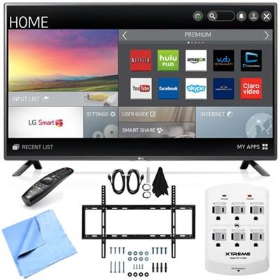 60LF6100 - 60-inch 120Hz Full HD 1080p Smart LED HDTV Mount & Hook-Up Bundle