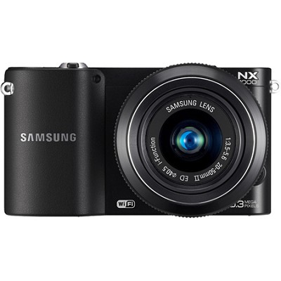 NX1000 20.3 MP Compact System Camera (Black) With 20-50 Lens - OPEN BOX
