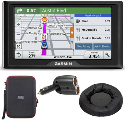 Drive 60LM GPS Navigator (US and Canada) 010-01533-07 Case + Mount + Car Charger