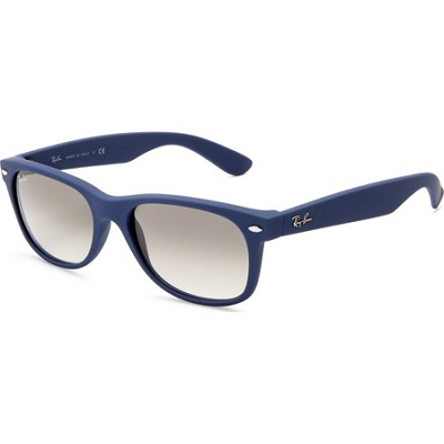 New Wayfarer 55MM Blue Sunglasses With Light Grey lens