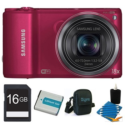 WB250F 14.2 MP SMART Camera Red 16GB Kit