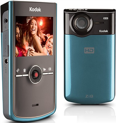 Zi8 Pocket 1080p Video Camera (Blue)