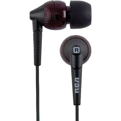 HP820CR Whipz Noise Isolating 9 MM Stereo Earbuds (Cherry Red)