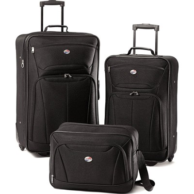 Fieldbrook II Three-Piece Luggage Set (Black)