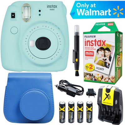 Instax Mini 9 Instant Camera  (Ice Blue) + Blue Case + 20pk Film Kit